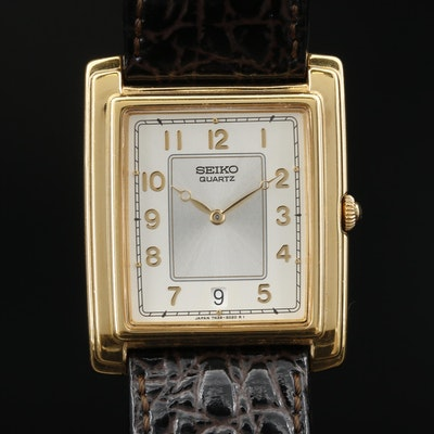 Seiko Gold Tone Quartz Dress Watch