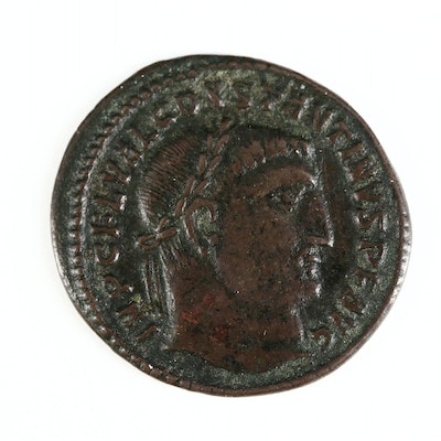 Ancient Roman Imperial AE Follis Coin of Constantine I, ca. 313 A.D.