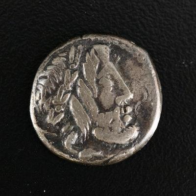 Ancient Roman Republic AR Denarius of L. Rubrius Dossenus, ca. 87 B.C.