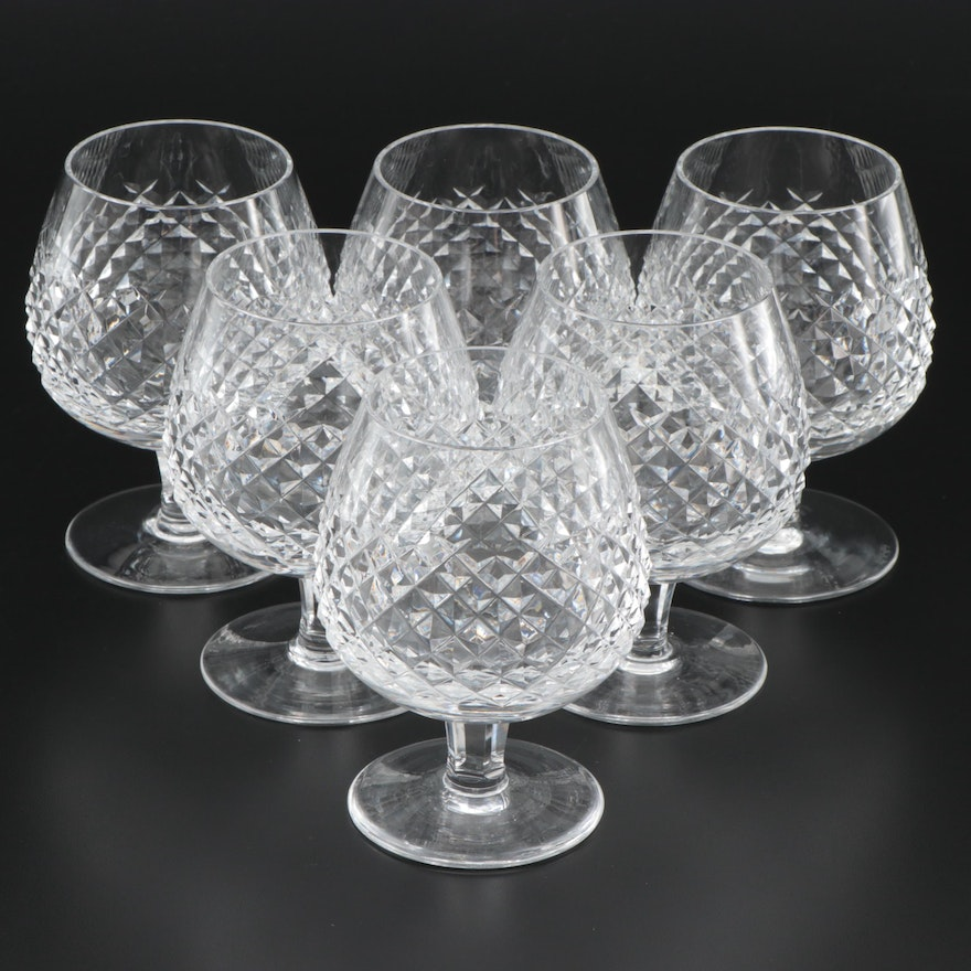 """Waterford Crystal """"Alana"""" Brandy Glasses, Mid to Late 20th Century"""