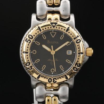 """Bulova """"Marine Star"""" Two Tone Stainless Steel Quartz Wristwatch"""