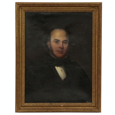 Portrait Oil Painting of Gentleman, Late 19th Century