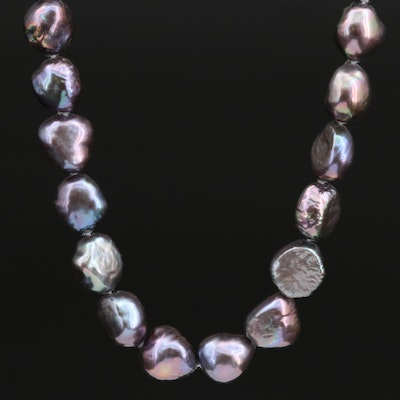 Honora Hand Knotted Pearl Necklace with 14K Clasp