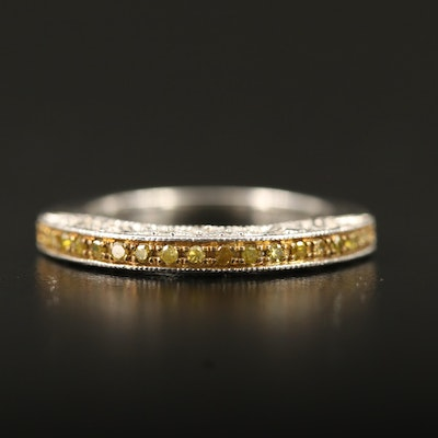 Sterling Silver Diamond Openwork Band