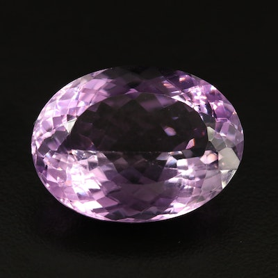 Loose 25.48 CT Oval Faceted Amethyst