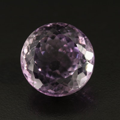 Loose 27.92 CT Round Faceted Amethyst