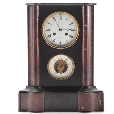 D. Valentine Marble Mantle Clock with Barometer