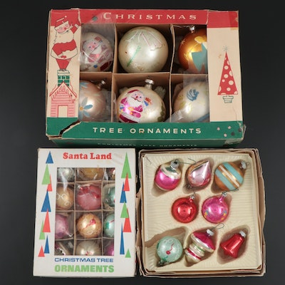 Handcrafted Glass Christmas Ornaments, Early to Mid 20th Century