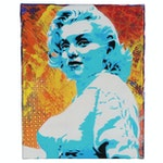 Planet Giggles Acrylic Stencil Painting of Marilyn Monroe, 21st Century