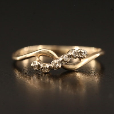 10K Diamond Ring Featuring Crossover Design