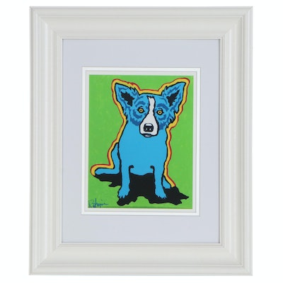 Offset Lithograph after George Rodrigue of Blue Dog, 21st Century