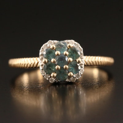 10K Alexandrite and Diamond Ring