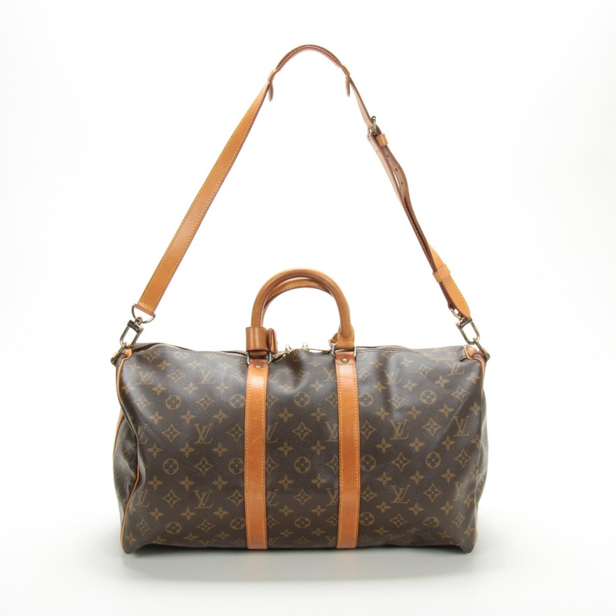 Louis Vuitton Keepall Bandouliere 45 Duffel in Monogram Canvas and Leather
