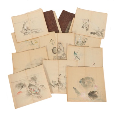 Japanese Watercolor and Gouache Painting Collection, 19th Century