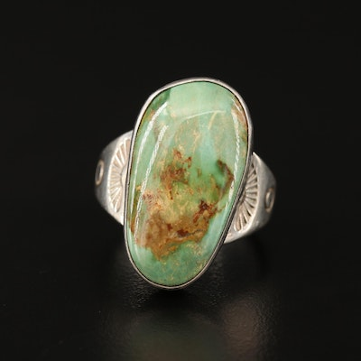 Richard Curley Navajo Diné Sterling Silver Turquoise Ring