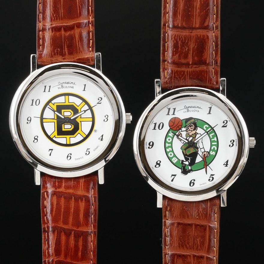 Sportstime By Bulova Boston Celtics and Bruins Quartz Wristwatches