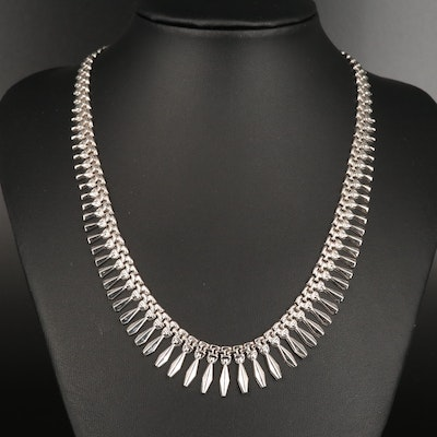 14K Graduated Fringe Collar Necklace