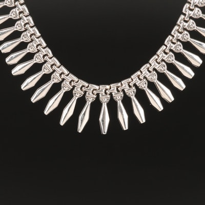 14K Graduated Fringe Collar Necklace