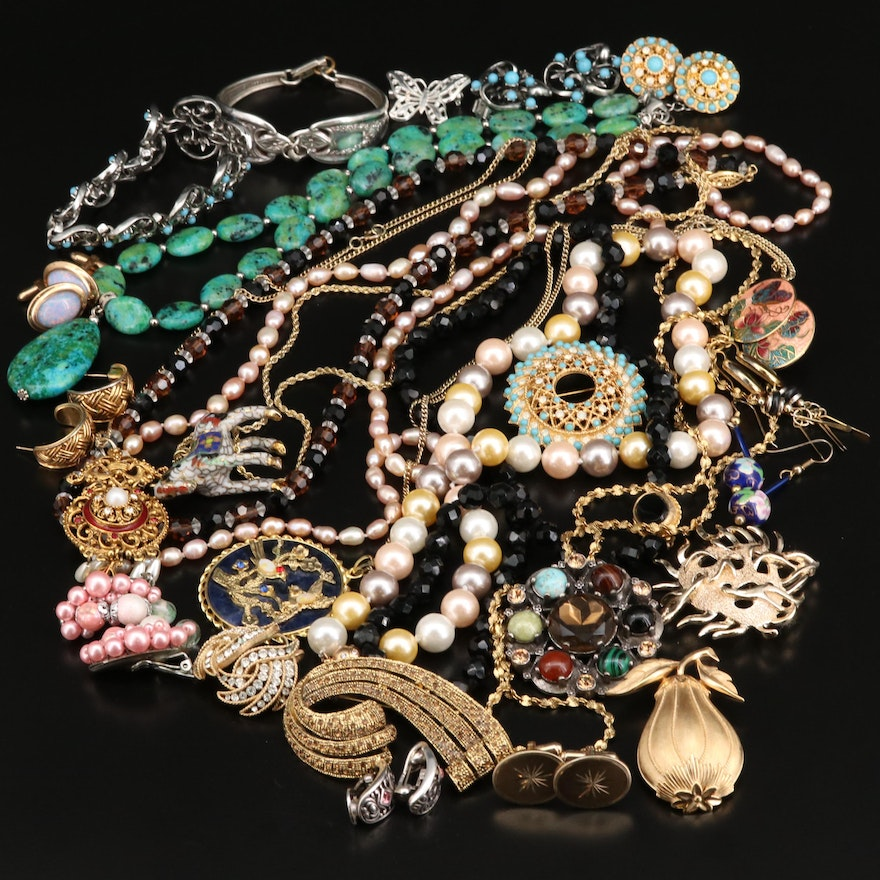 Collection of Jewelry Including Florenza, Sterling and Crown Trifari
