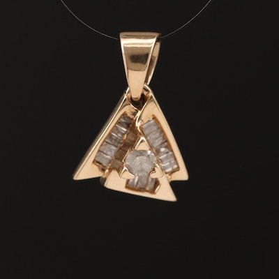 10K Diamond Pendant
