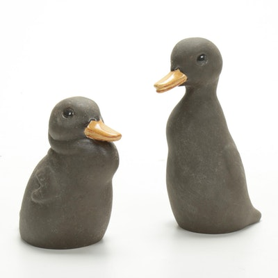 Nicodemus Ferro-Stone Duckling Figurines