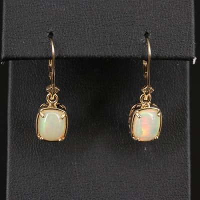 14K Opal Dangle Earrings