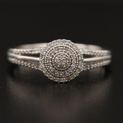 10K Diamond Ring with Open Shoulders