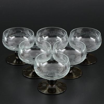 Austrian Romer Style Dessert Glasses , Mid-20th Century