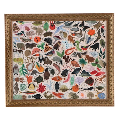 """Offset Lithograph after Charley Harper """"Tree of Life,"""" 21st Century"""
