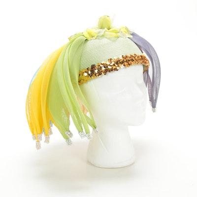Carolyn's Hats Mesh and Sequin Fascinator