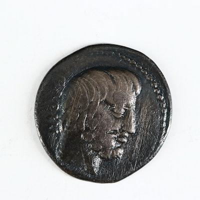 Ancient Roman Republic AR Denarius of L. Titurius L.f. Sabinus, ca. 89 B.C.
