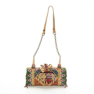 Mary Frances Beaded Shoulder Bag