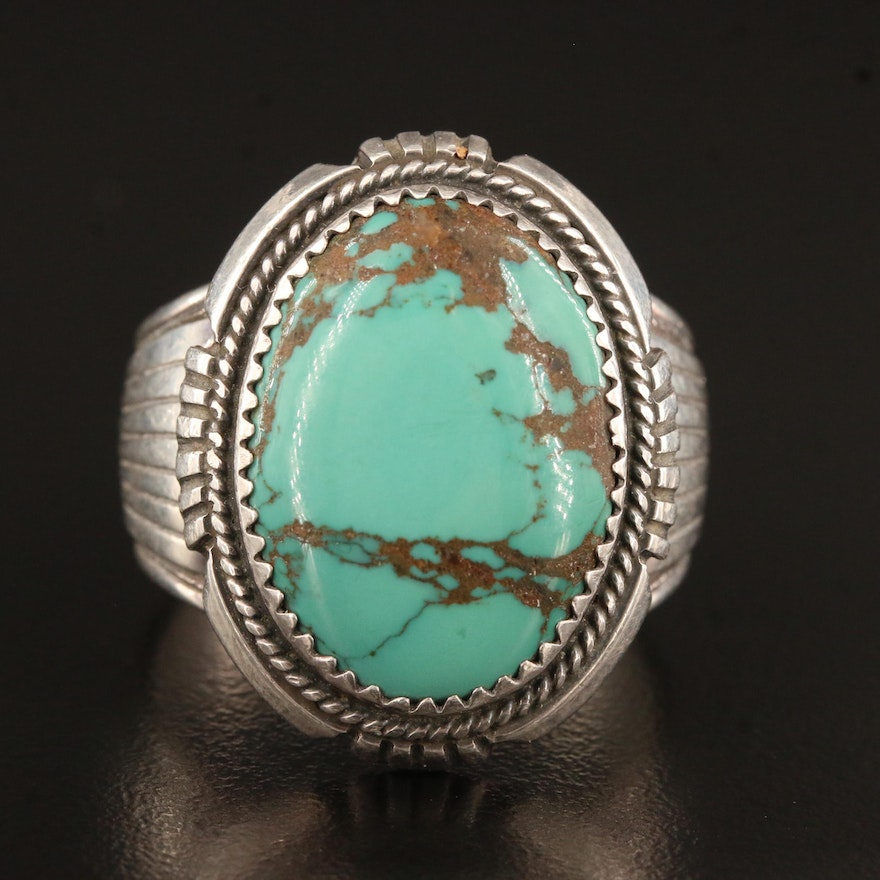 Will Denetdale Navajo Diné Sterling Silver Turquoise Ring