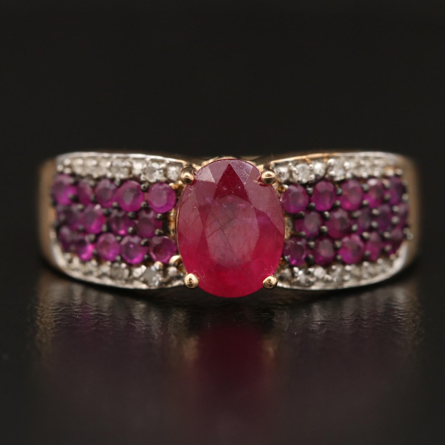 9K Ruby and Diamond Ring