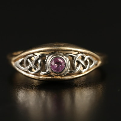 10K Sapphire Openwork Ring