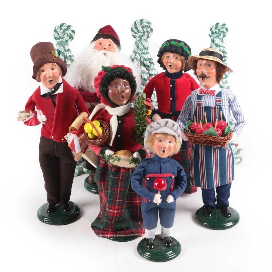 """Byer's Choice Ltd """"The Carolers"""" and Christmas Tree Figurines"""