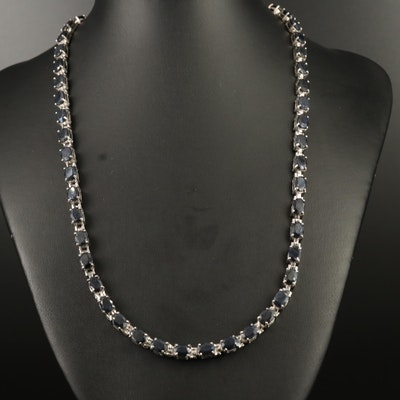 Sterling Silver Sapphire Collar Necklace