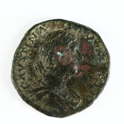Ancient Roman Imperial AE As Coin of Faustina II, ca. 161 A.D.