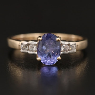 10K Tanzanite and Topaz Ring