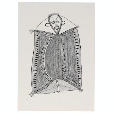 "Timothy Akis Serigraph ""Bilak Bokis,"" circa 1977"