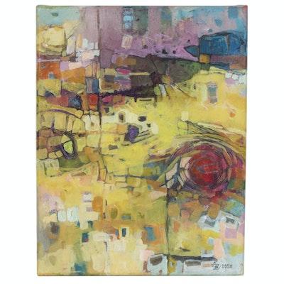 "Alexandra Zecevic Acrylic Painting ""For The Love of Gauguin,"" 2020"