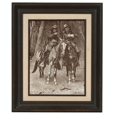 Etched Relief Printing Plate after Frederic Remington