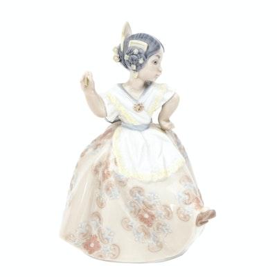 "Lladró ""Carmencita"" Porcelain Figurine Designed by Salvador Debón"