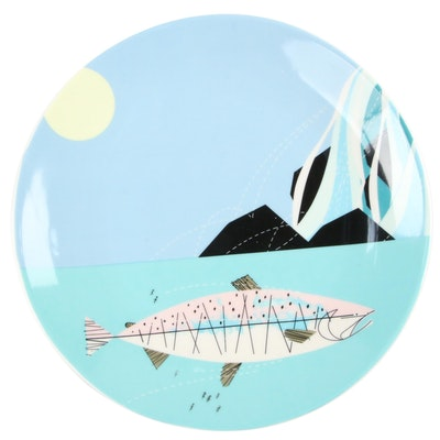 Charley Harper + Todd Oldham for Fishs Eddy Ceramic Plate