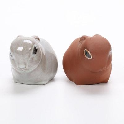 Nicodemus Ferro-Stone Cottontail Bunny Figurines