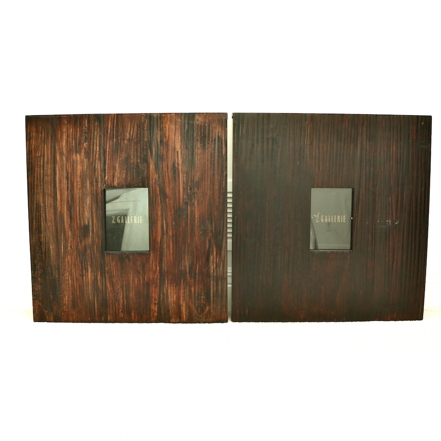 """Z Gallerie """"Sequoia"""" Large Wooden Hanging Wall Frames"""