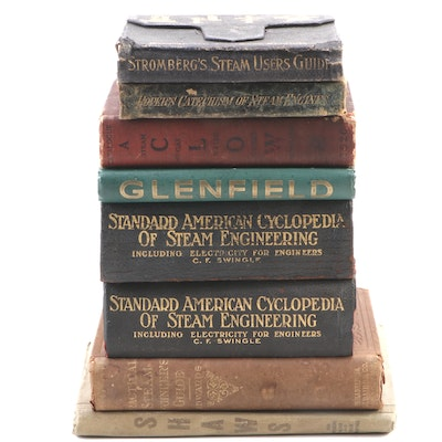"""Standard American Cyclopedia of Steam Engineering"" with More Books and Catalogs"
