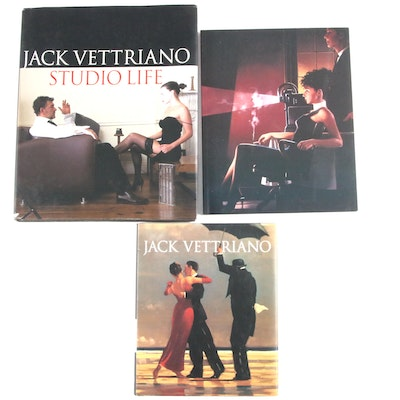 "Signed First Editions ""Jack Vettriano"" and ""Jack Vettriano: Studio Life"""