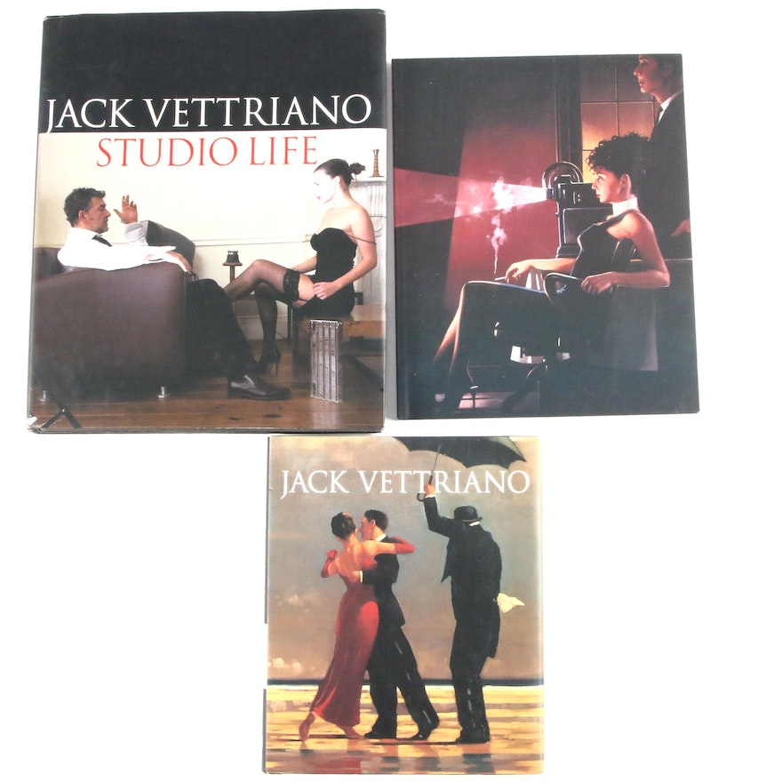 """Signed First Editions """"Jack Vettriano"""" and """"Jack Vettriano: Studio Life"""""""