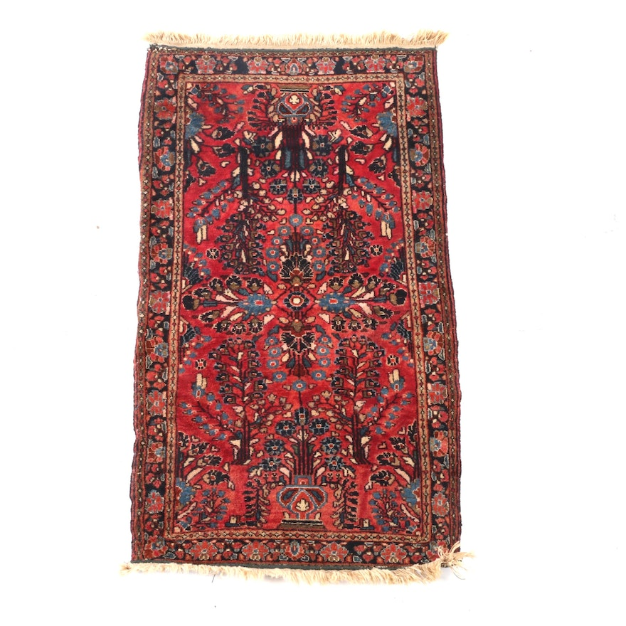 2'0 x 4'2 Hand-Knotted Persian Sarouk Wool Rug
